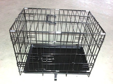 High Quality Double Door Folding Colored Metal Pet Crate/Dog Cage