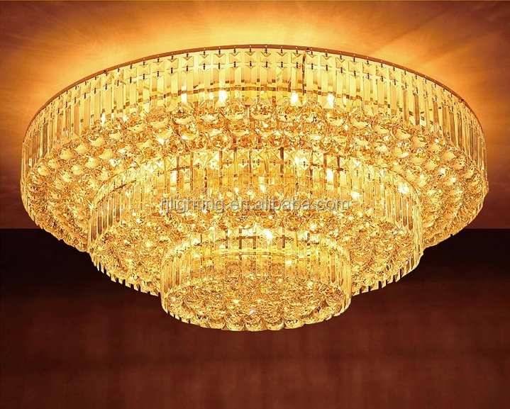 Custom Hotel Project Banquet Hall Crystal Lamp Low Ceiling Cristal Chandelier Light