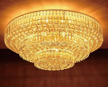 Custom Indoor ballroom wedding Hotel Banquet Hall cristal Lamp LED Crystal Chandelier Ceiling Light