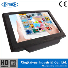 SK-Tech wholesale 10.1 inch capacitive touch screen AV input/output IR FM transmitter universal car headrest monitor