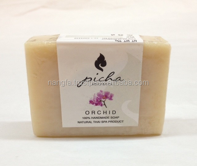 Thai herbal orchid flower extract handmade soap for wholesale