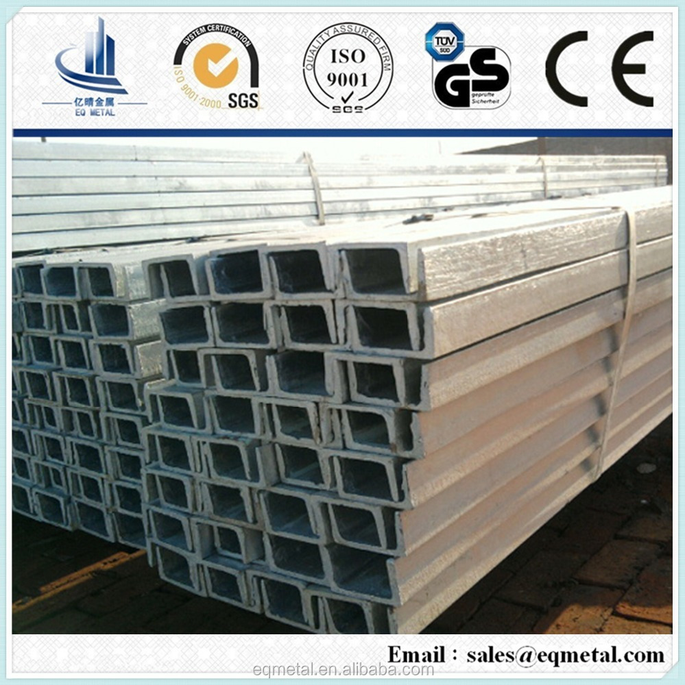 Steel Channel Sizes/u channel steel S235/S355/Q235/Q345/SS400/A36