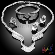 New Arrival African Costume Jewelry Sets Women Crystal Jewelry Costume Accessory crystal desk accessories