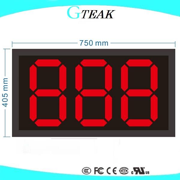 7 segment <strong>led</strong> <strong>display</strong> 3 digits of full size for the gas price and the scoreboard