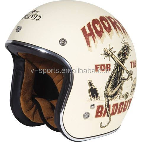 TORC open face retro motorcycle helmet with ECE certification