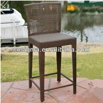 2017 Trade Assurance Popularly Outdoor Fashion cheap pe flat rattan bar high chairs furniture
