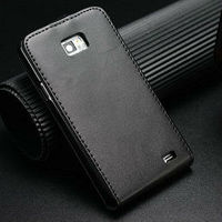 genuine smooth leather flip original cover for samsung galaxy s2