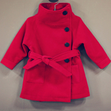 Wholesale Kids Christmas Baby Girl Warm Coat Children Warm Winter Jackets Woolen Outside Wear XZ3002