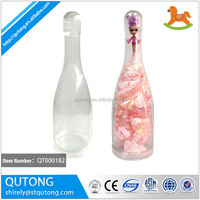 China direct factory top quality plastic champagne bottle for candy , gift