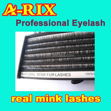 HOT!!! A-RIX private label 100 real mink hair lashes extension
