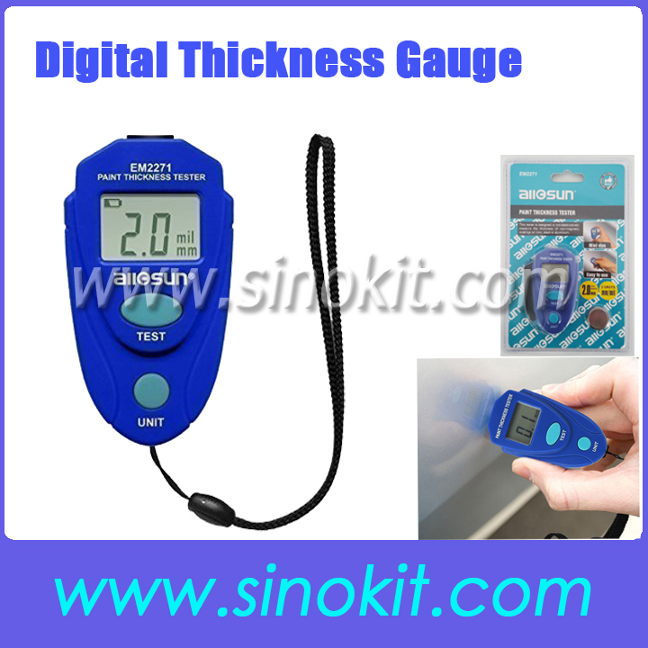 Digital <strong>Thickness</strong> Gauge Car Painting <strong>Thickness</strong> Tester Paint <strong>Thickness</strong> Meter PT2100