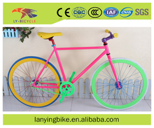 Fixed gear bike 700C single speed track bicycle colorful