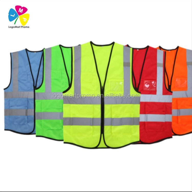 2018 Factory Made Cheap Bright Colors Green Fluorescent Reflective Safety Vest