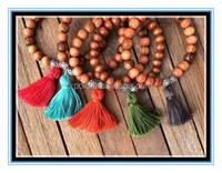 2015 wooden beads bracelet mala beads bracelet with tassel