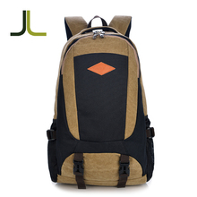 Brown canvas backpack bag, tactical waterproof hydration travel bag canvas backpack camel mountain backpack