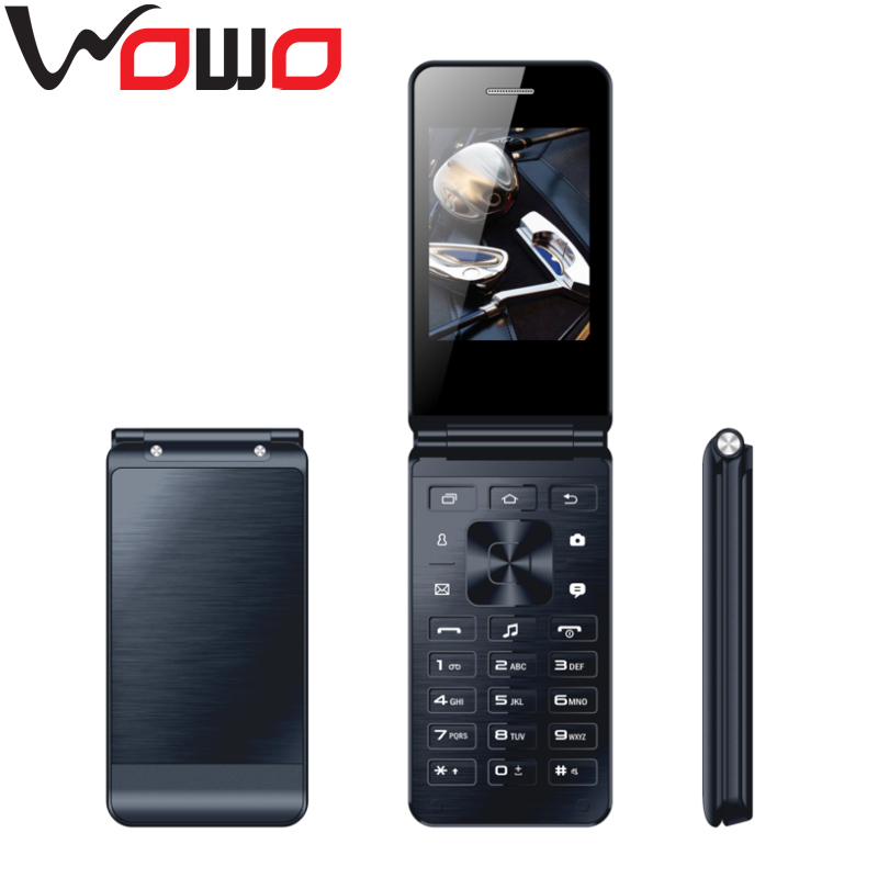 2017 Flip Phone WIFI Cheap Flip Dual SIM Mobile Phone 2G GSM Flip Mobile Phone with Camera -2016