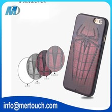 3D embossment soft TPU cartoon print iroman superman batman spider-man mobile phone cover case for iphone 6