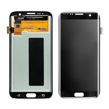 5.5 '' black LCD screen for samsung S7 edge LCD display super amoled