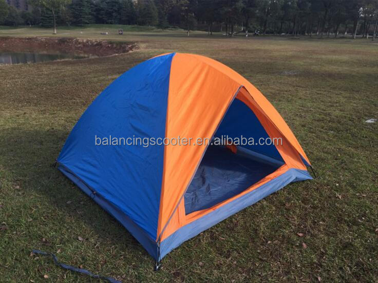 Outdoor travel travel 3-4 people tent double two-door lake camp tents