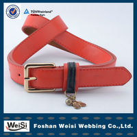2013 exclusive design gold pin buckle women braided belts