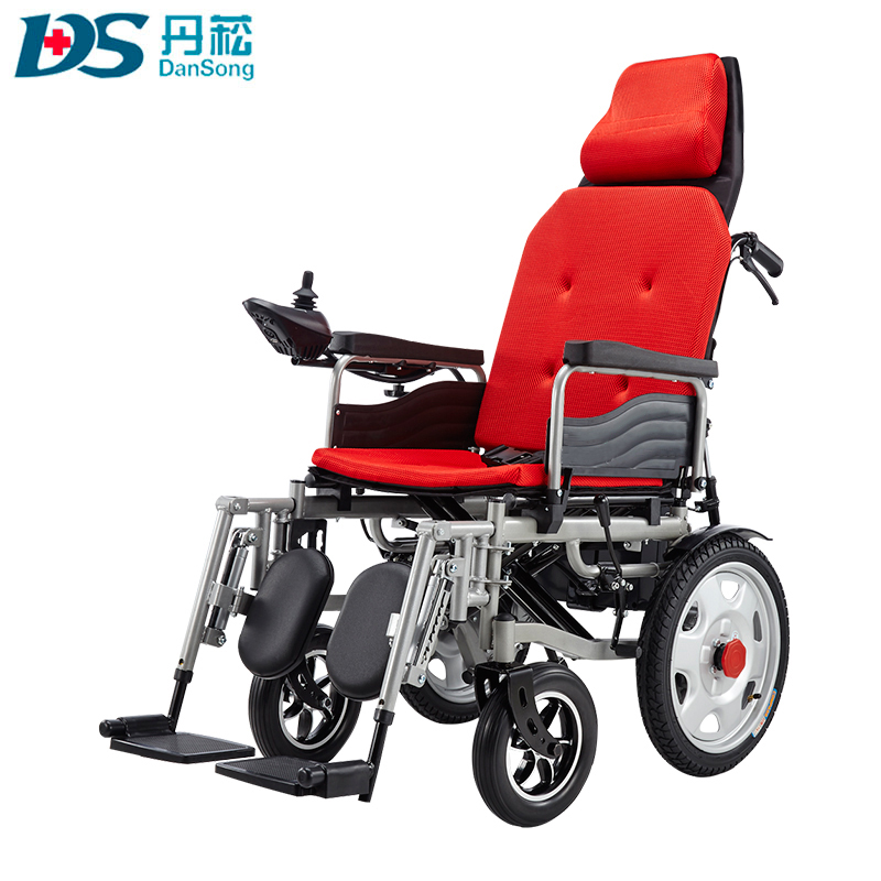 Aluminum lightweight foldable power electric wheelchair for sale