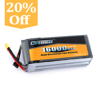 Rechargeable Lithium Polymer Battery 16000mah 25C 14.8V for OnyxStar FOX-C8-HD Gryphon X8 GreatMax 4S1P