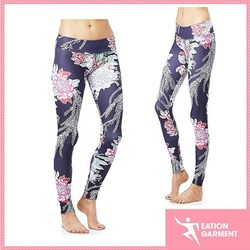polyester/spandex all over sublimation with new design yoga leggings