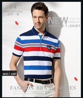 yarn dyed stripe T-shirts men business clothes wholesale