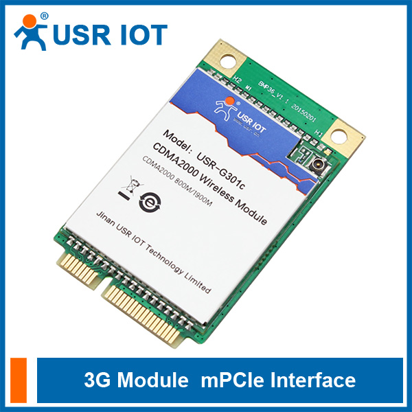 USR-G301c 3G OEM Module UART/USB to CDMA 1x and CDMA EV-DO Voice Function Supported