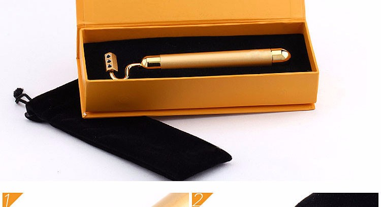 Kakusan SPA massager face lift beauty device 24k gold vibration beauty bar