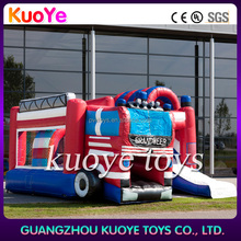 inflatable fire truck bouncy castle with slide