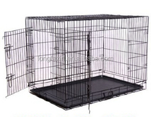 Durable 2 Door Metal Dog Wire Cage Pet crate