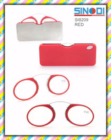 new design clip on nose TR90 without arm reading glasses frame