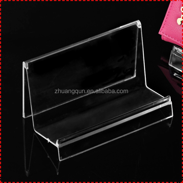 Wholesale clear view plastic marketing gift one wallet display <strong>stand</strong>