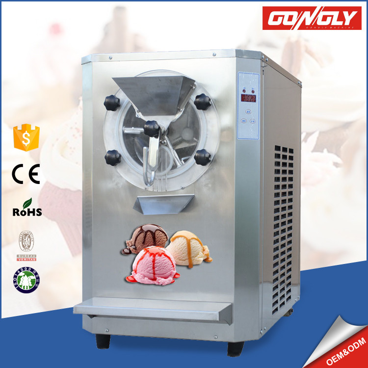 Good feedback Stainless steel R22/R404A table top ice cream batch freezer for wholesale