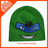 100% acrylic printed winter beanie knitted hat factory