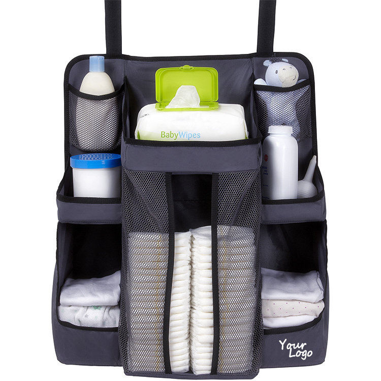 Durable Diaper Bag Nursery Organizer And Diaper Caddy Organization Bag With Large Capacity