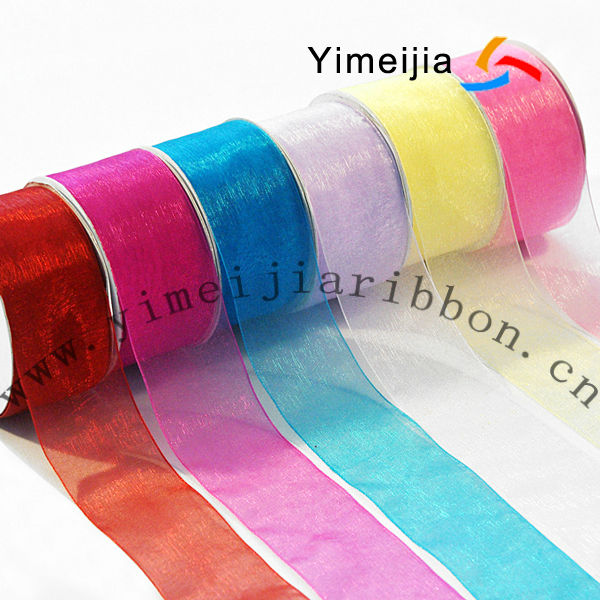 different colors of wide mesh ribbon