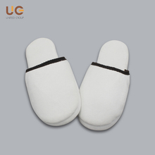 Top Quality Low Price White Cotton Velvet Hotel Slipper
