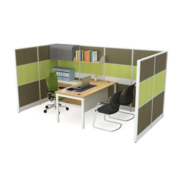 Modern open office workstation cubicle in office partition