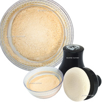 Beauties Factory Smooth Glitter Body Powder with Puff - Nude