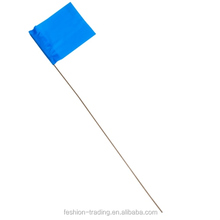Plastic pe pvc vinyl marking flags with wire staff