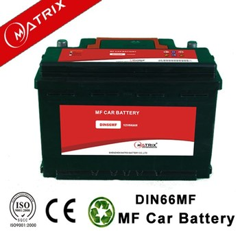 manufacture 12v 66ah mf automotive DIN66 european car battery