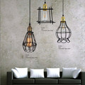 Antique Vintage Classical Style Edison Industrial Cage Lamp Pendant For Living Room Lighting