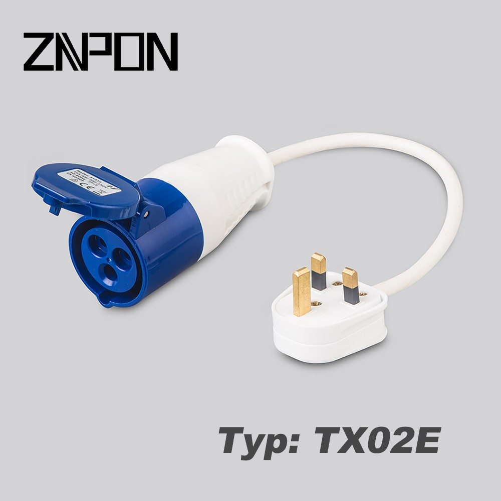 TX02E CONVERSION ADAPTER LEAD / Motorhome / Camping / Caravan flying lead connector