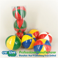 Stuffed juggling ball set with PVC tube packing/hacky sack/sand ball