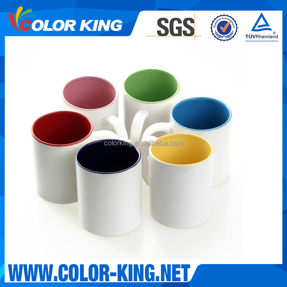 Top Grade Colourful <strong>Ceramic</strong> 11oz Inner Wholesale Sublimation Mug for heat press