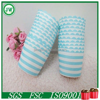 Blue and white stripes baking cake cups, home decorations cup wrappers, cake tools bakeware cake wrappers