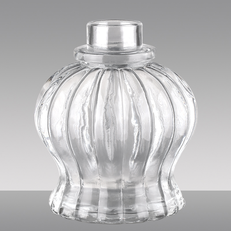 Decorative empty 14oz glass storage jar
