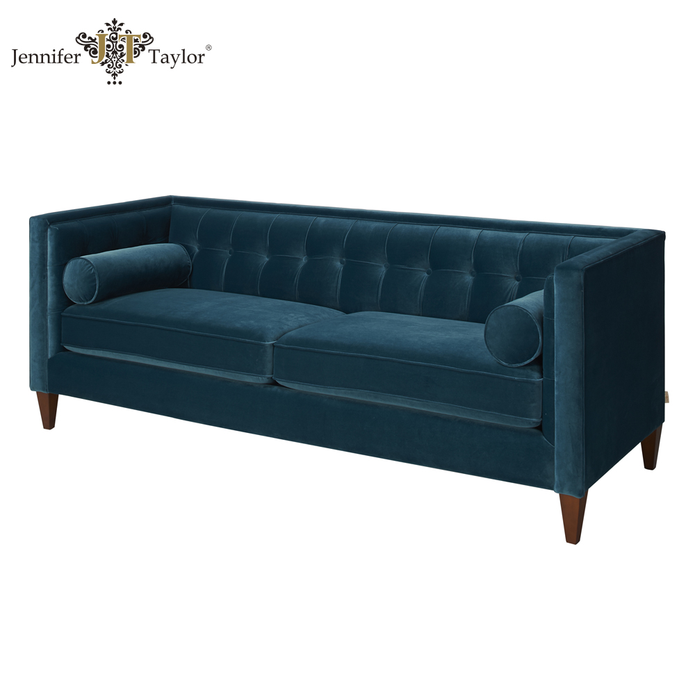 Top quality China furniture factory with 20 years experience sofa/deeply tufted 3 seater sofa/living room furniture velvet sofa